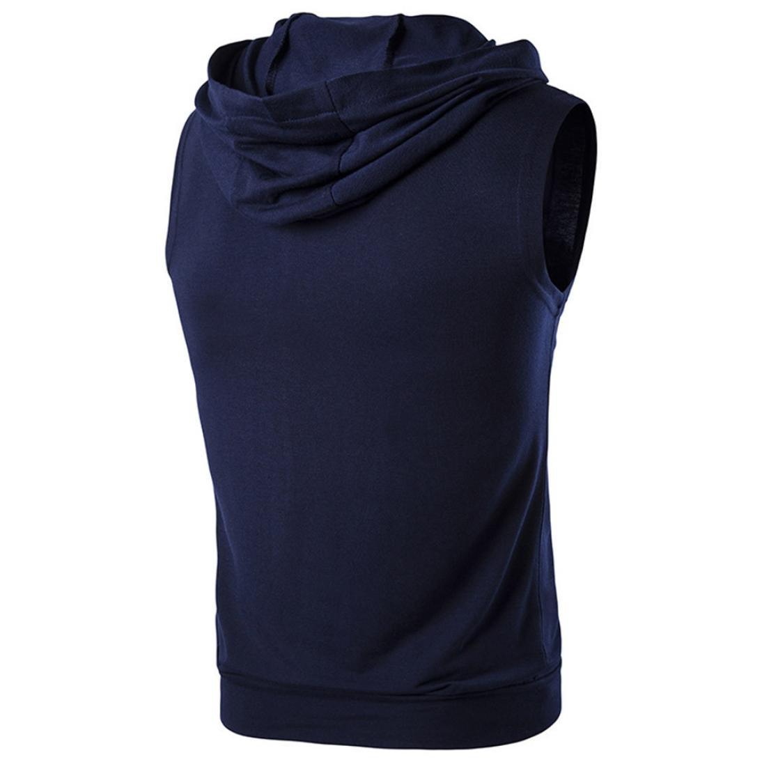 Herren Tank Tops Forh Solid Weste Rundhalskragen Sweatshirt Pullover Hoodie Pullover M/änner Basic T-Shirt mit Rei/ßverschluss /Ärmellos Warm Bleiben Weste Vest Tr/ägertop