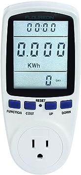 US Plug Power Meter Energy Watt Voltage Amp Monitor with Electrical Usage Meter