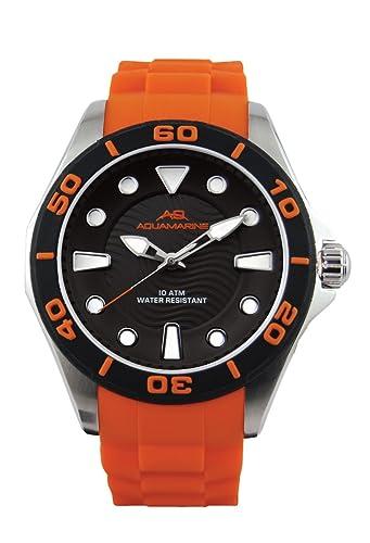 9a698a1f2883 Aquamarine Reloj Hombre Chrono Negro Verano Naranja-Colección de 2016   Amazon.es  Relojes
