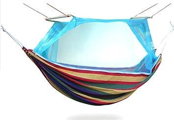 MONEYY Las barras de color redes hamacas al aire libre anti-mosquito camping turismo interior