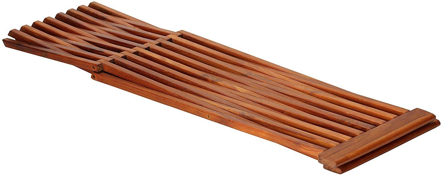 Bare Decor Taj Folding Plant Stand Pedestal Table in Solid Teak Wood, 28'' High by Bare Decor