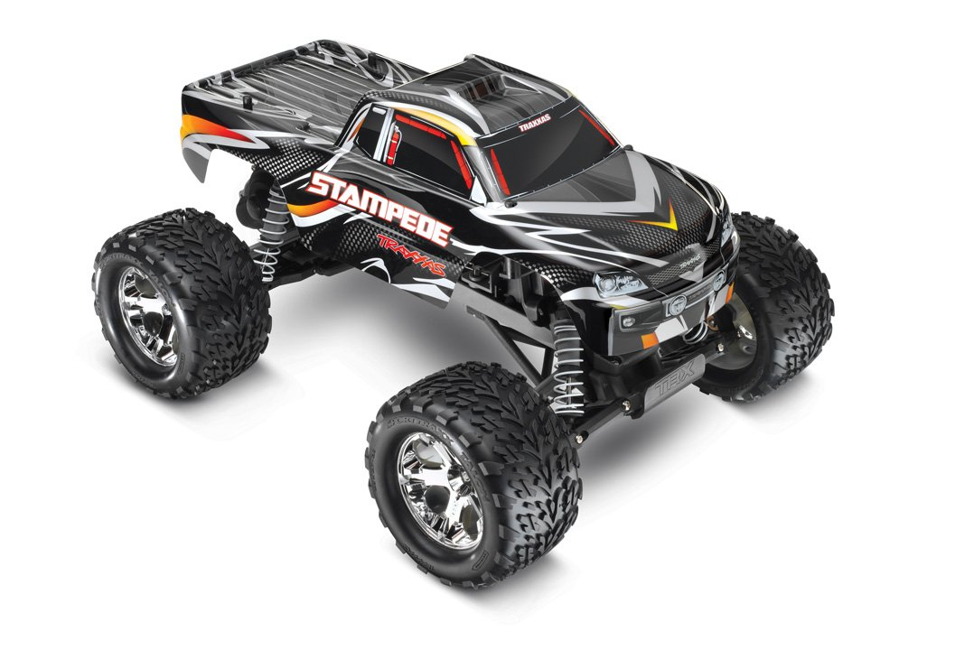 1. Traxxas Stampede 1/10 Scale 2WD Monster Truck with TQ 2.4GHz Radio, Black