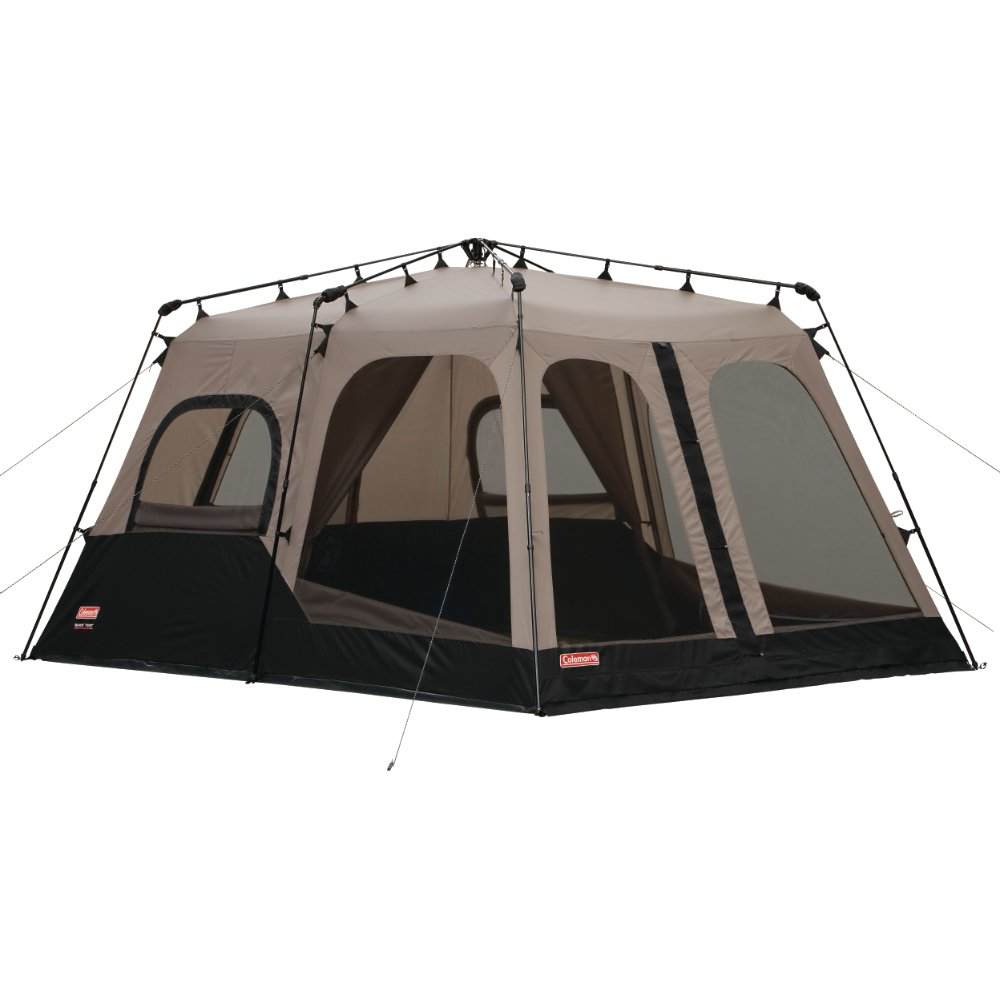 Image result for Coleman 2000018295 8-Person Instant Tent, Black (14x10 Feet)