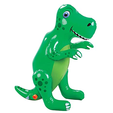 84721436 Amazon.com: Etna Inflatable Dinosaur Sprinkler - Fun Outdoor T-Rex ...