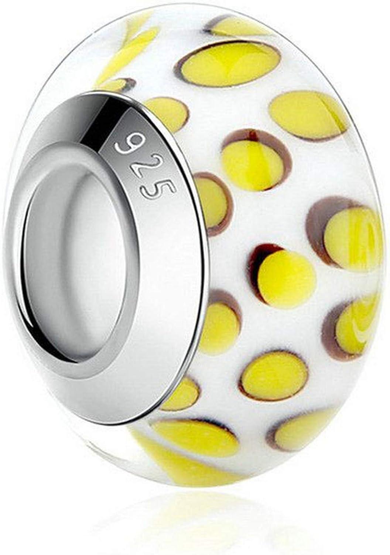 EverReena Beads Lovely Butterfly Murano Glass for Silver Bracelets