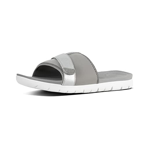 3d1e6948d006e Fit Flop Neoflex TM Slides Sandals, Tongs Femme, Multicolore (Soft  Grey Silver