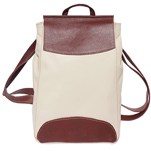 d6bf5892dc10 BACKPACK LOCKME IN SOFT LEATHER (Beige-brown)  Amazon.co.uk  Shoes ...