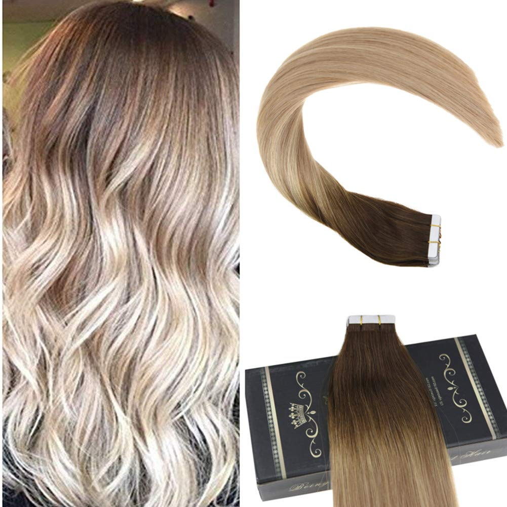 Amazon Ugeat 20inch Straight Tape In Hair Extensions Remy