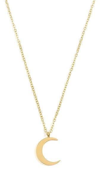 Amazon happiness boutique half moon necklace gold color happiness boutique half moon necklace gold color delicate crescent moon pendant necklace aloadofball Images