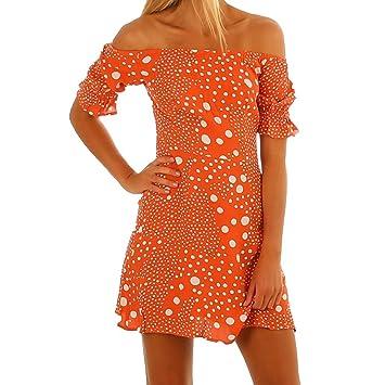 Vestido de verano para mujer, diseño de lunares de Bohemia, vestido casual sin tirantes