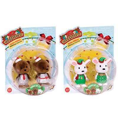 Li'l Woodzeez Surprise Bobbleez - Collectible Animal Figurines - Holiday Series 1: Toys & Games