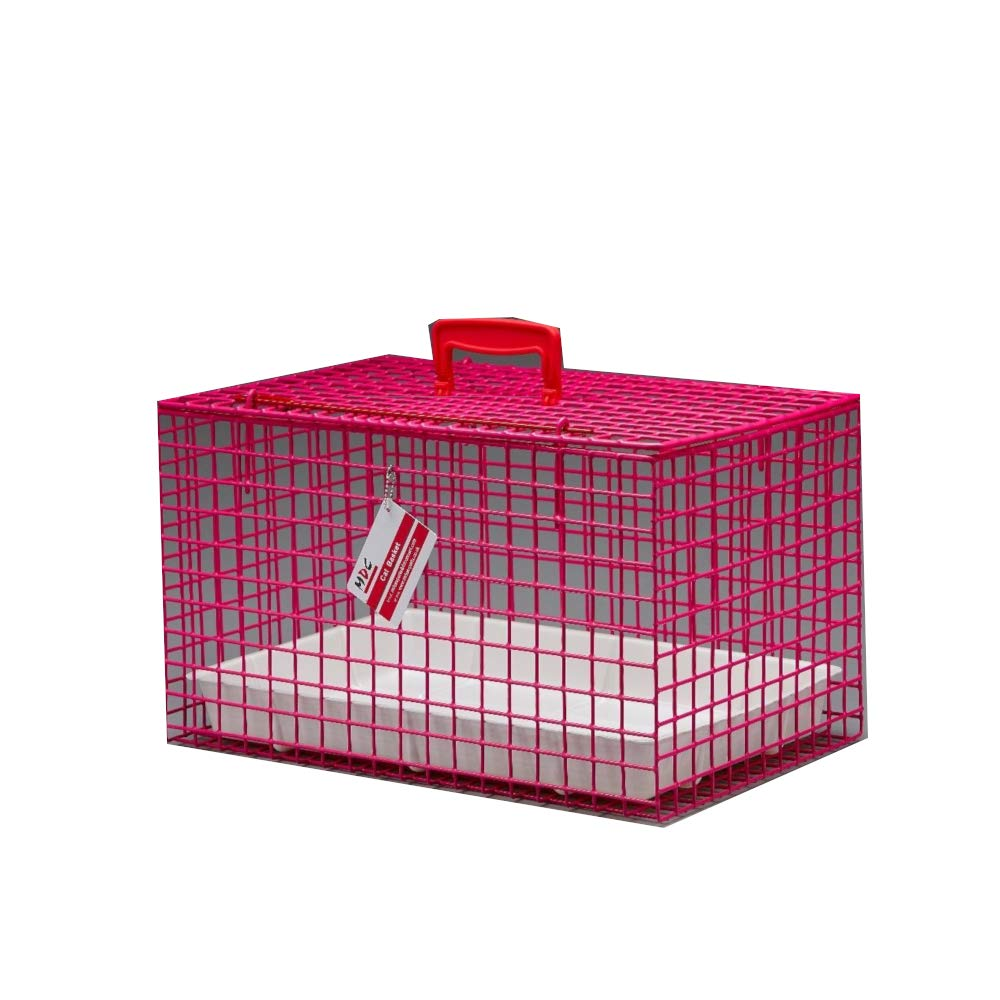 Pink L18 x W11.5 x H11.5in Pink L18 x W11.5 x H11.5in MDC Cat Carry Basket (L18 x W11.5 x H11.5in) (Pink)