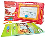 Magnetic Doodle Board for kids – TWO Water Coloring Books for toddlers – Magnetic Drawing Board for Girls and Boys – This Magna Doodle pad helps your kid Write & Draw - Perfect Travel Toys by LootSoul