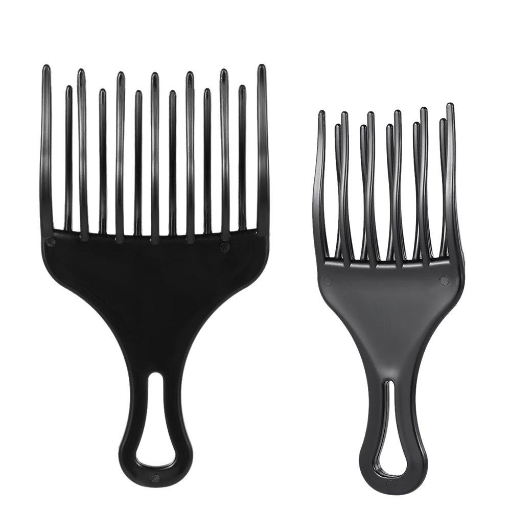 Anself 2ST Pelo Peine Pick Peine Afro, Plástico High & Low Gear para Hombre y Mujer