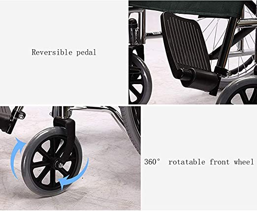 MJY Andador portátil plegable ligero para silla de ruedas de viaje ...