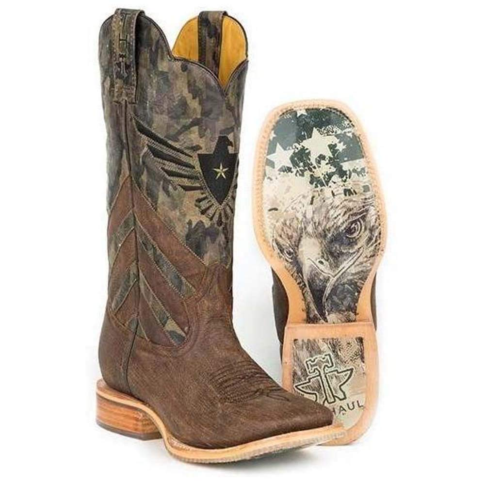 Mens Tin Haul Sergeant at Arms Boots with Screaming Eagle Sole