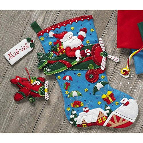 Bucilla 86863 Airplane Santa Stocking Kit from Bucilla
