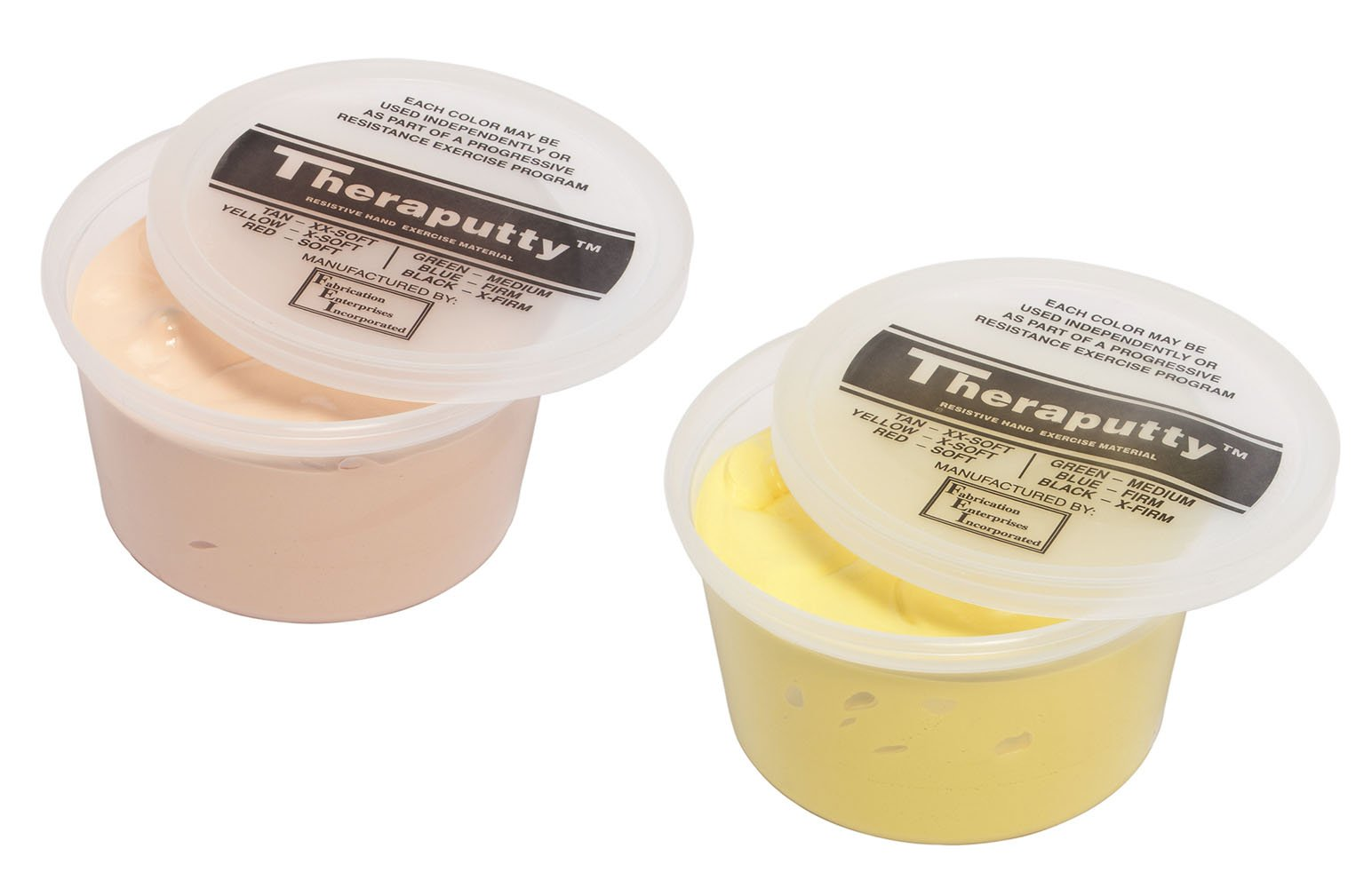 TheraPutty Standard Exercise Putty Tan - XX-Soft, Yellow - X-soft 1 LB Each - Bundle