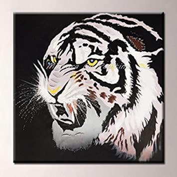 Modern Hand Painted Art Oil Painting Tiger On Canvas Home Wall Decor No Frame