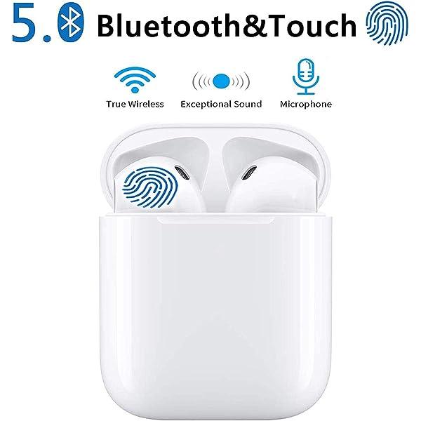 Bluetooth-Kopfh/örer,kabellose Touch-Kopfh/örer HiFi-Kopfh/örer In-Ear-Kopfh/örer Rauschunterdr/ückungskopfh/örer,Tragbare Sport-Bluetooth-Funkkopfh/örer f/ür Airpods Android//iPhone//Samsung//AirPods Pro