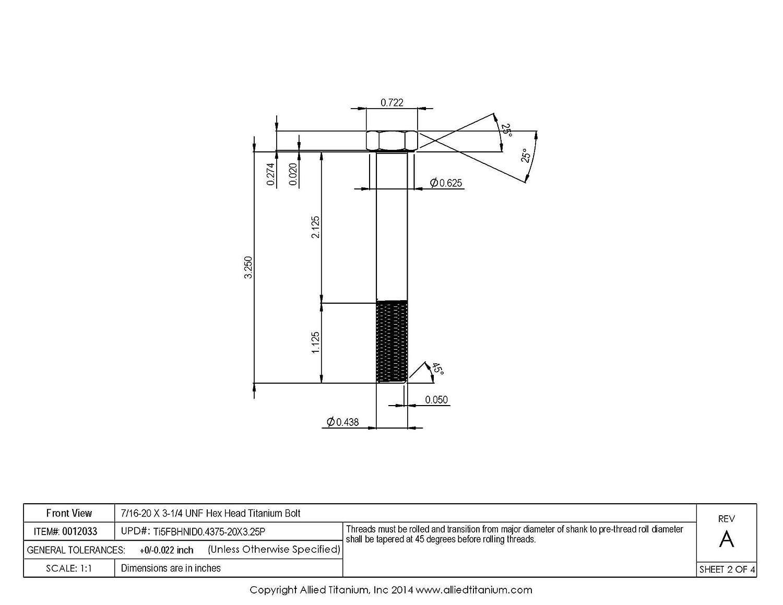 B A Tugger T-Slot Bolts // 5//8 Table Slot 5//8-11 x 4-1//2 Lgth Te-Co Series 803 Under Head