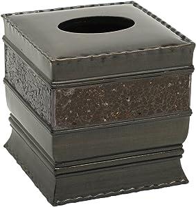 Zenna Home India Ink Prescott Tissue Box Cover, Bronze