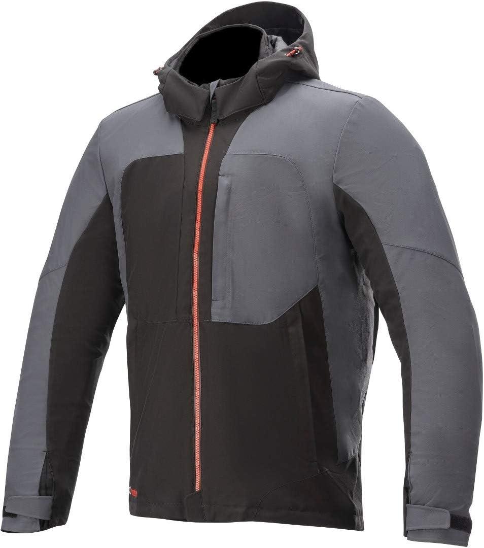 S Alpinestars Mens Stratos V2 Techshell Drystar Motorcycle Jacket Black//Asphalt//Red