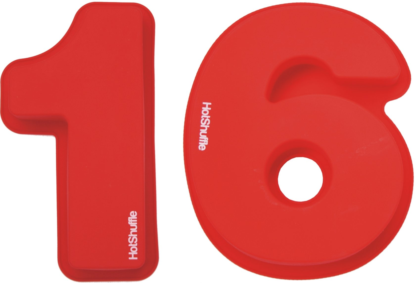 Large Silicone Number 16 Cake Pan Tin Mould 16th Birthday Gift 1 6 by HotShuffle (Image #1)