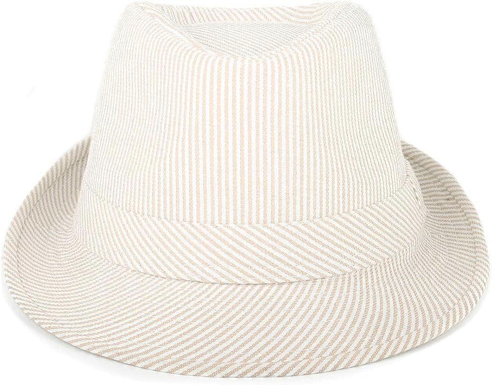 WESTEND Unisex Summer Short Brim Fedora Hats for Men /& Women Panama Hats /& Straw Hats