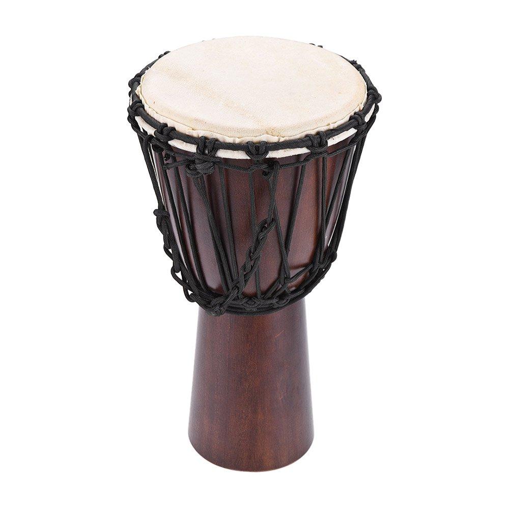 ammoon 10 inch African Djembe Hand Bongo Drum Percussion Music Instrument Select Hardwood Body Goatskin Head