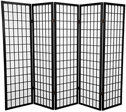 5 Panel Room Divider – Black
