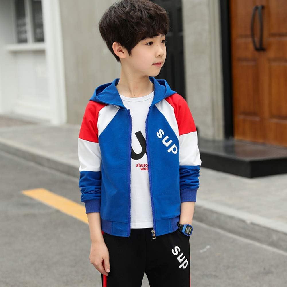 Sweat LPATTERN Enfants Gar/çon Surv/êtement 3 Pcs Ensemble de Sport Jogging Costume T-Shirt Pantalon de Sport Surv/êtement de Jogging 4-12 Ans