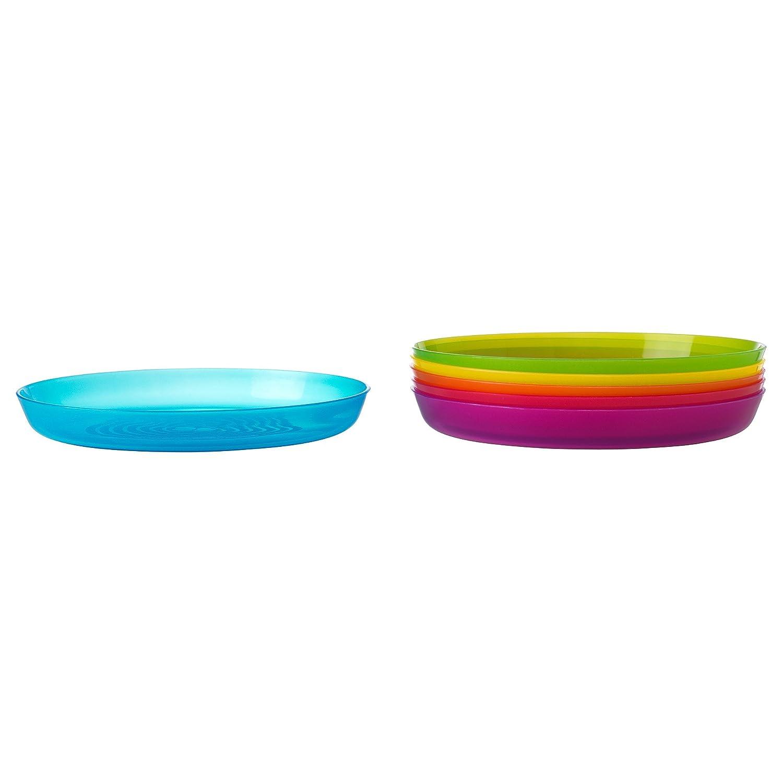 Amazon.com  IKEA - KALAS Children Color Plates Set of 6 Length 7 1/2 \  Width 6 1/4 \   Baby  sc 1 st  Amazon.com & Amazon.com : IKEA - KALAS Children Color Plates Set of 6 Length: 7 ...