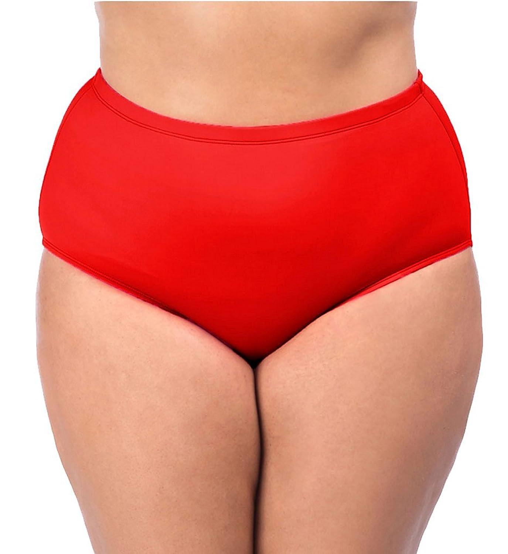180e2b61b9 well-wreapped La Blanca Women s Plus-Size Island Goddess Solid High Rise  Bikini Bottom