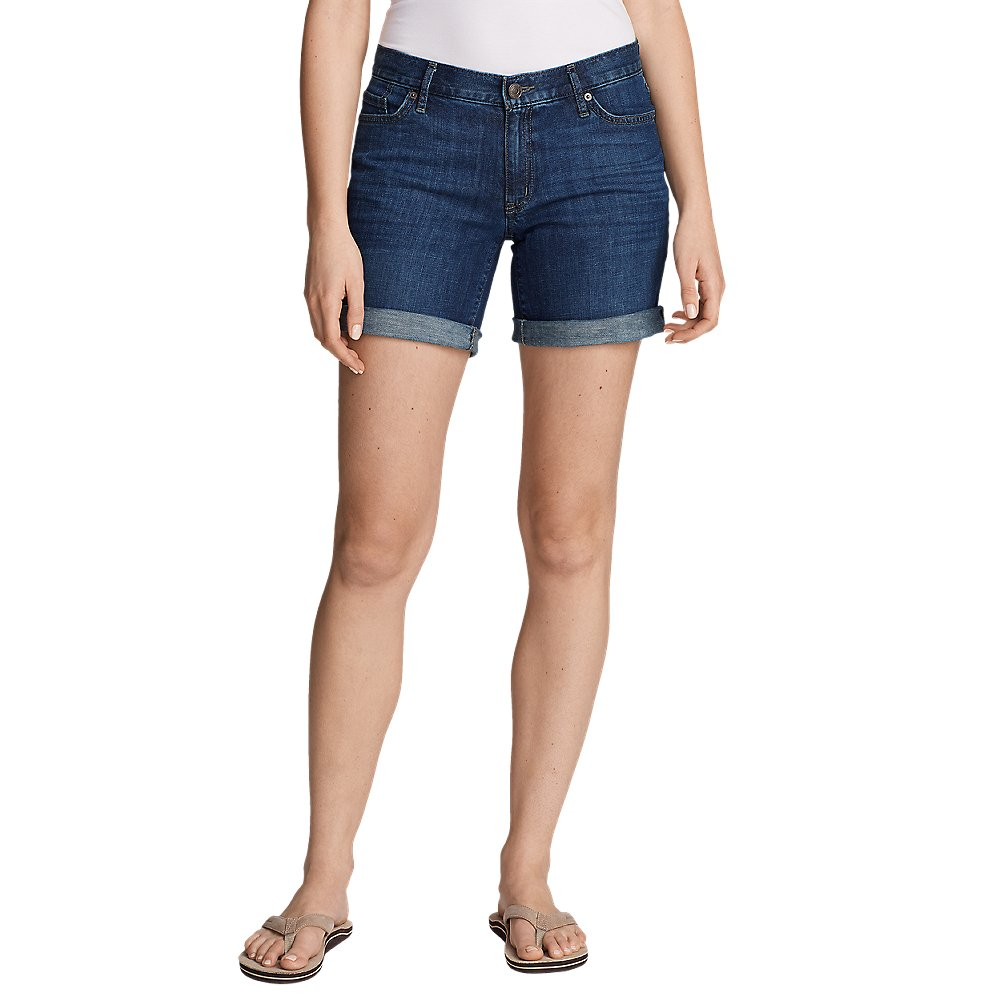 Eddie Bauer Women's Boyfriend Denim Shorts, Heritage Wash Regular 10