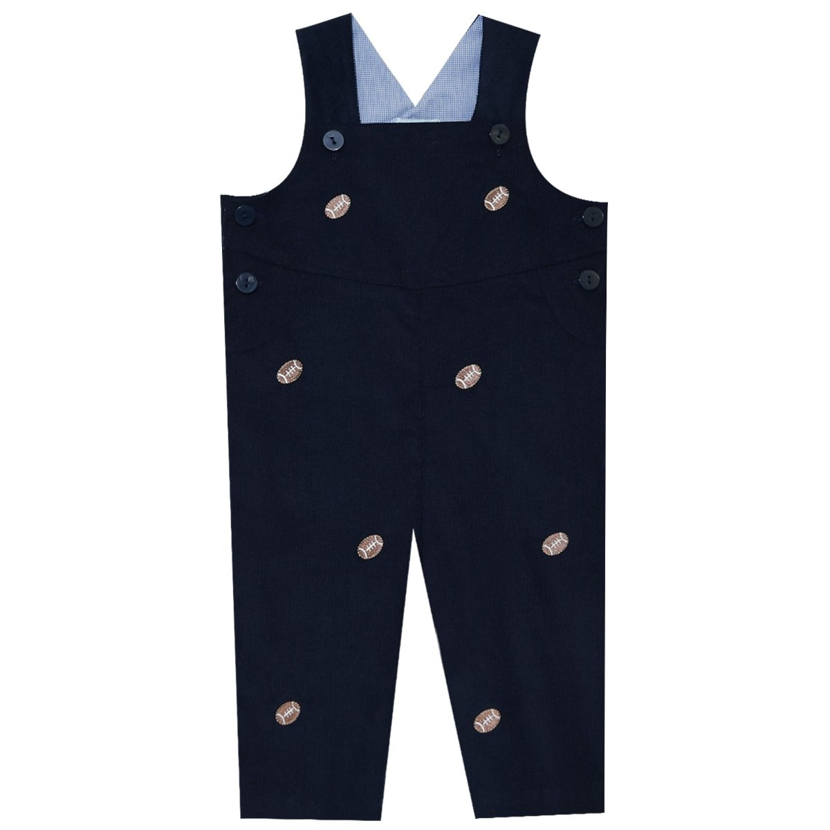 K & L EMBROIDERY COLLECTION Football Embroidered Boys Overall Vive La Fete