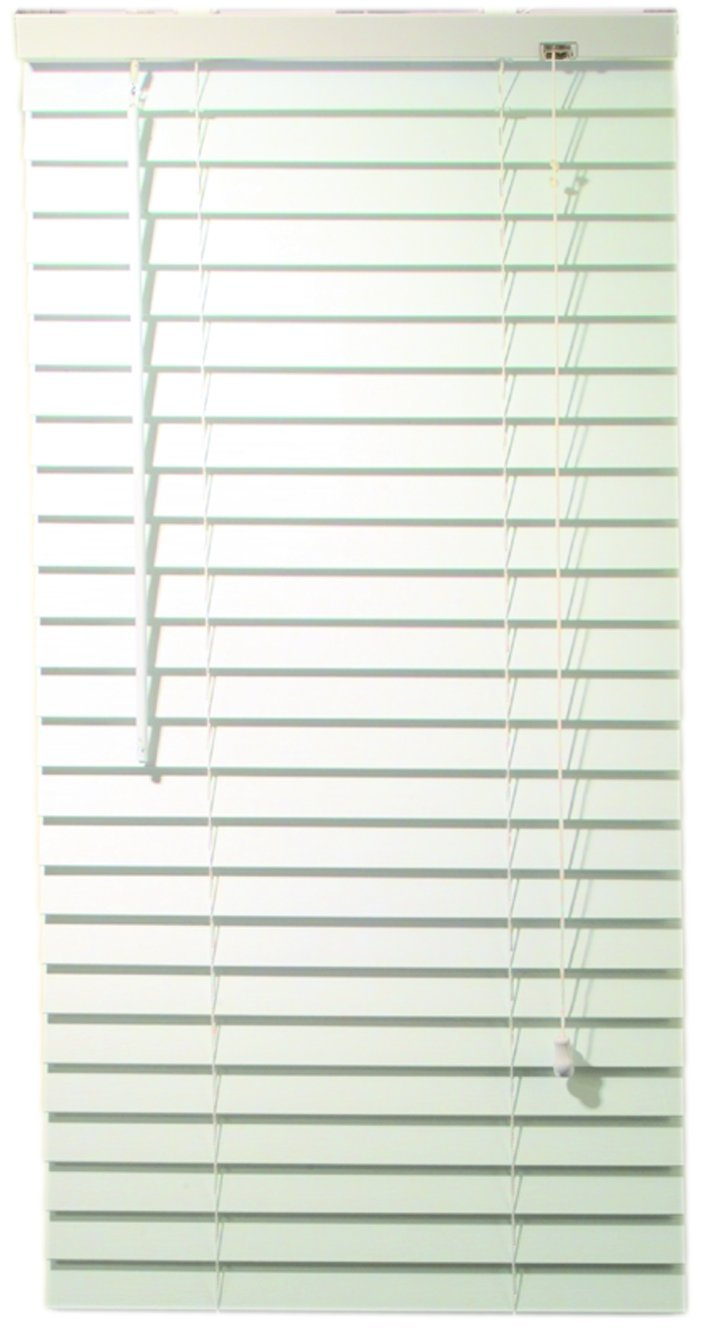 Designer's Touch 2464715 2-Inch Faux Wood Blind Crown Valance, 53 x 72 x 2-Inch, White Designer' s Touch