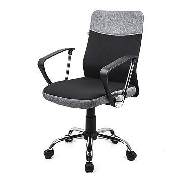 Davik Chaise De Bureau Ergonomique Confort Support Du Dos Noir