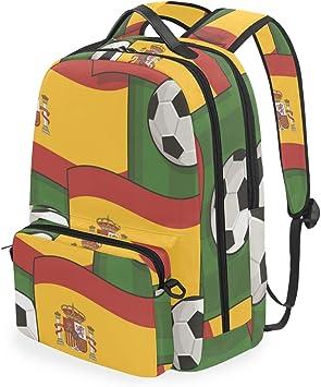 Mochilas de Escuela con diseño de fútbol de España, Mochila para ...