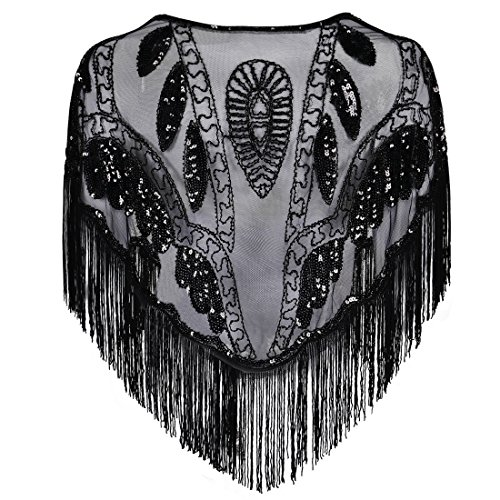 Kayamiya-Womens-Evening-Shawl-Beaded-Sequin-Deco-Wedding-Wraps-With-Fringe