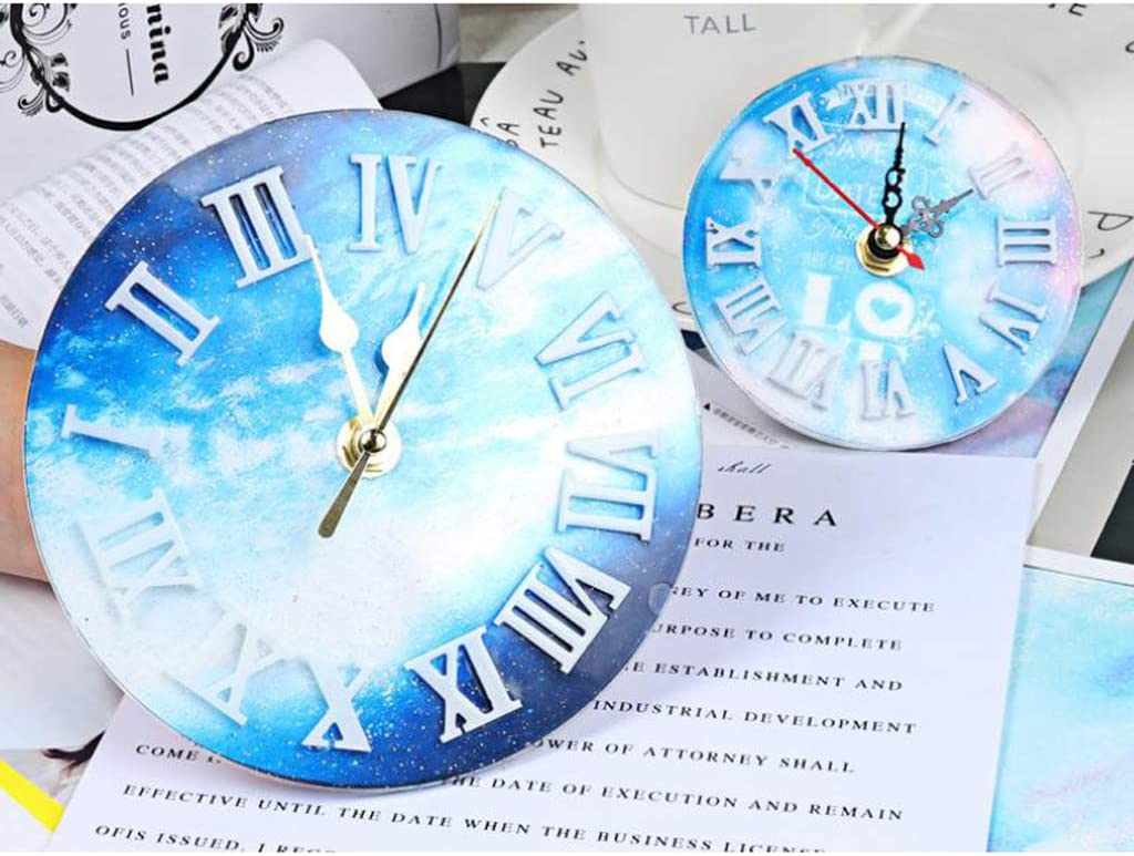 Arabic Numerals Clock S Silicone Mold Jewelry Big Clock Resin Mould Handmade Tool DIY Epoxy Molds AT Clear