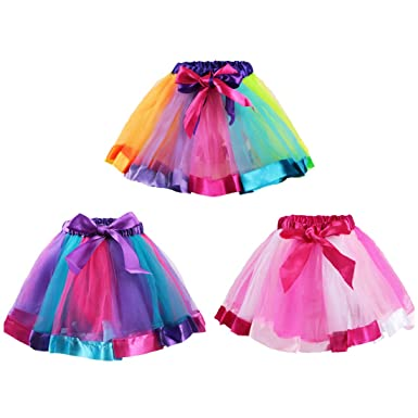 Kilofly - Falda - para niña Multicolor Talla única: Amazon.es ...