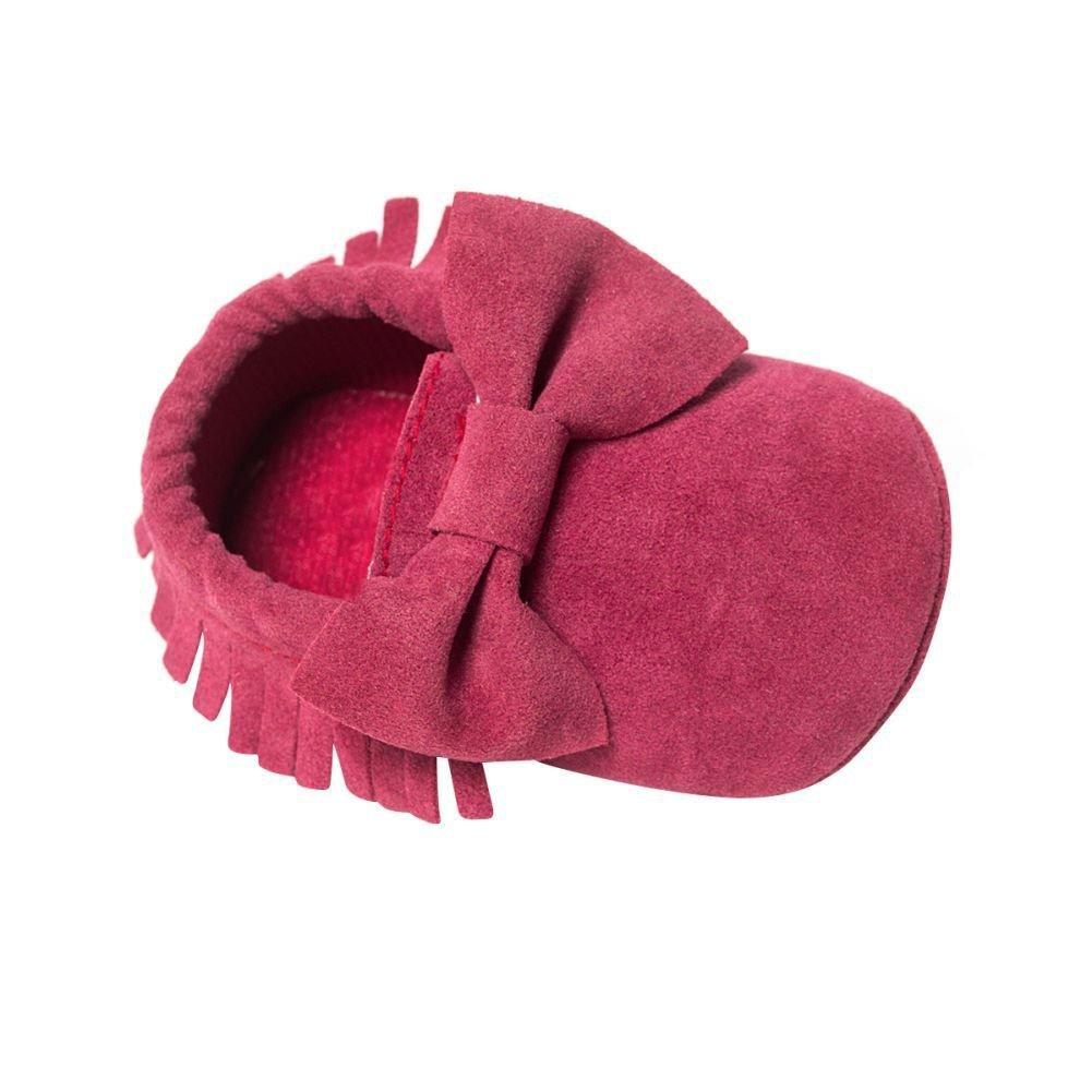 BOBORA Chaussures Bebe en Cuir Souple, Chaussons Bebe Filles Garcons Premiers Pas pour 0-6, 6-12, 12-18Mois BO-FR549