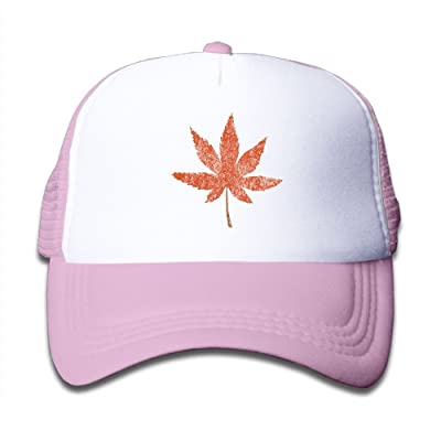 SDRG5 Maple Leaves Old Child Baby Kid Adjustable Trucker Hat Summer Baseball Cap
