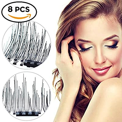 8 PCS Upgraded 3D Magnetic Eyelashes, Fashionable False Magnetic Eyelashes, Reusable and No Glue Needed Ultra Thin Magnetic Eyelashes, Natural Eyelash Look, Best Magnetic Eyelashes for 2018 | Popular Toys