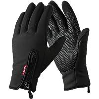 Yygift Gants sport pour extérieur compatibles écran tactile Gants d'hiver coupe-vent pour homme et femme