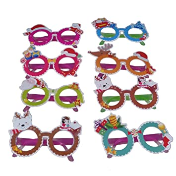 bc4178d5fe0a Tinksky Kids Eye Glasses Plastic Cartoon Eyeglasses Children Dress Up Costume  Set for Christmas 8pcs