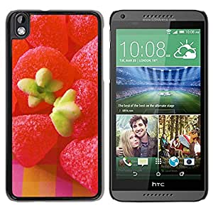 New Beautiful Custom Designed Cover Case For HTC Desire 816 With Strawberry Candy Phone Case