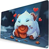 Large Mouse Pad for League of Legends Poro with Stitched Edges Gaming Mouse Mat Non-Slip Rubber Base Mousepad for Laptop