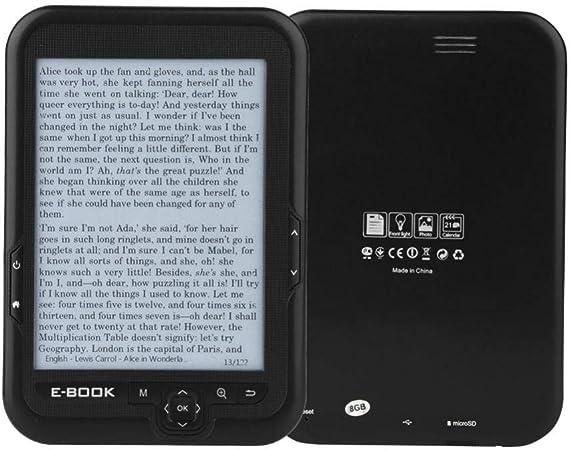 E-Reader, Portátil 6 Pulgadas 800x600 300DPI Lector Libros Electrónicos USB2.0 Lectura Digital Libros Radio FM incorporada/Grabación/MP3 WAV/Fotos, Soporte Tarjeta 32GB TF, 29 Idiomas(Negro 16g): Amazon.es: Hogar